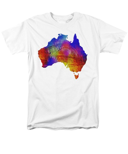 Men's T-Shirt  (Regular Fit) featuring the photograph Australia And Sydney Harbour Bridge By Kaye Menner by Kaye Menner