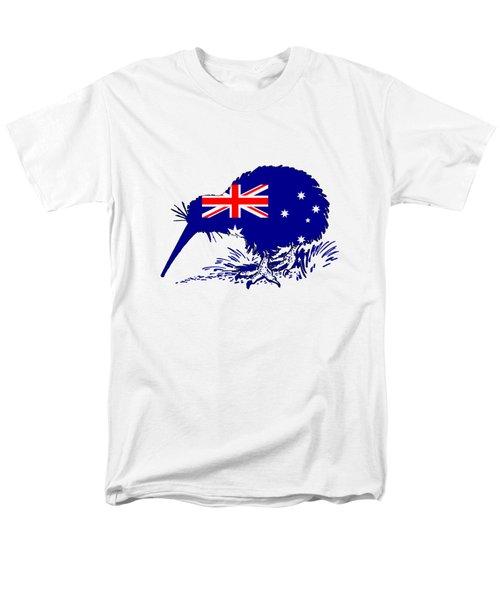 Australian Flag - Kiwi Bird Men's T-Shirt  (Regular Fit) by Mordax Furittus