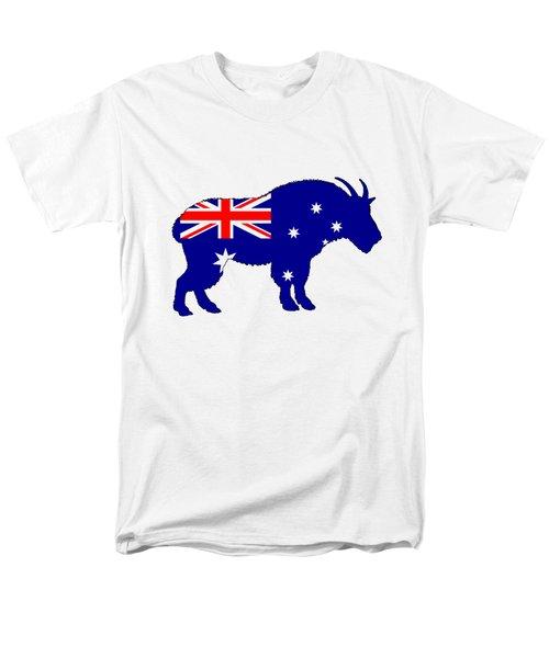 Australian Flag - Mountain Goat Men's T-Shirt  (Regular Fit) by Mordax Furittus