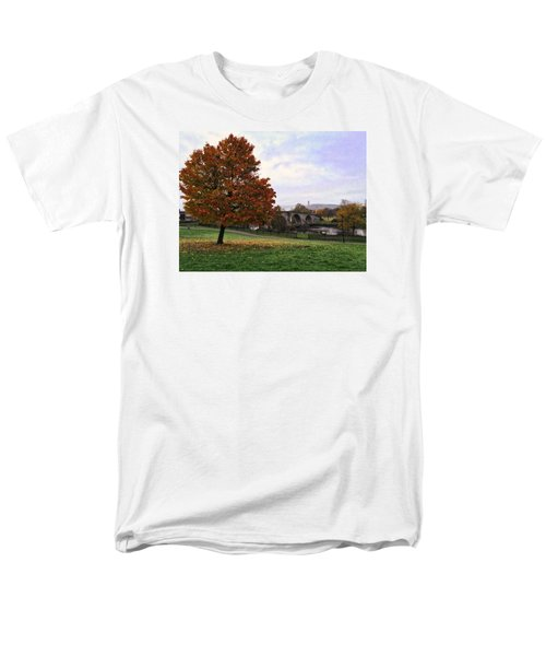 Men's T-Shirt  (Regular Fit) featuring the photograph Autumn At Stirling Bridge by RKAB Works