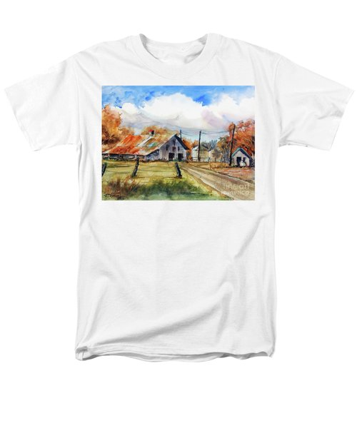 Men's T-Shirt  (Regular Fit) featuring the painting Autumn At The Farm by Ron Stephens