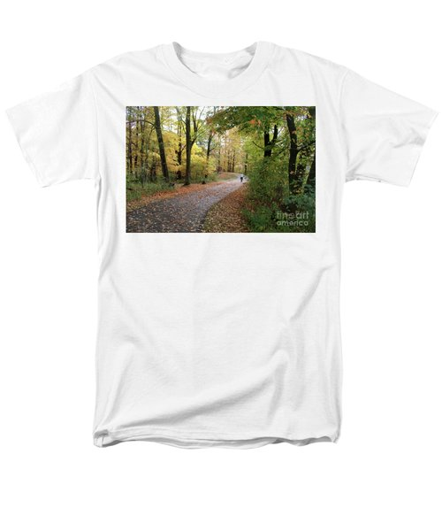 Men's T-Shirt  (Regular Fit) featuring the photograph Autumn Bicycling by Felipe Adan Lerma