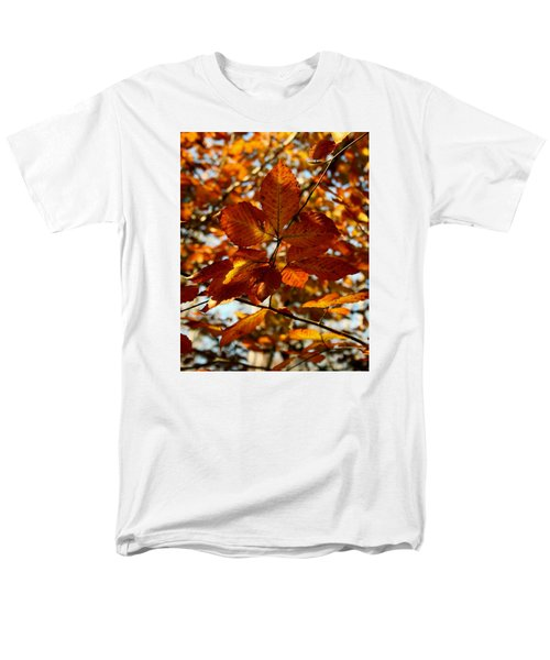 Men's T-Shirt  (Regular Fit) featuring the photograph Autumn Leaves by Karen Harrison