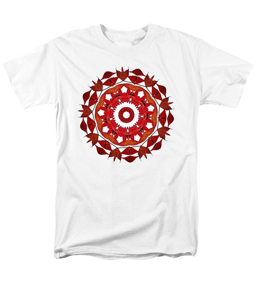 Autumn Leaves Mandala By Kaye Menner Men's T-Shirt  (Regular Fit) by Kaye Menner