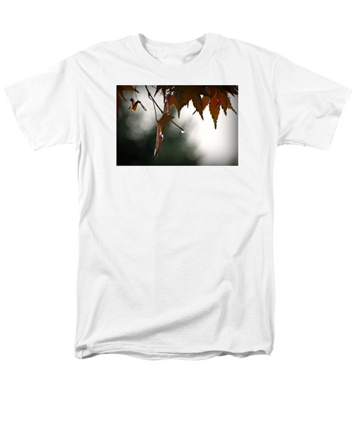 Men's T-Shirt  (Regular Fit) featuring the photograph Autumn Raindrops by Katie Wing Vigil