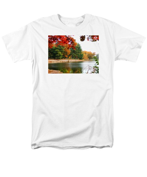 Men's T-Shirt  (Regular Fit) featuring the photograph Autumn View by Teresa Schomig