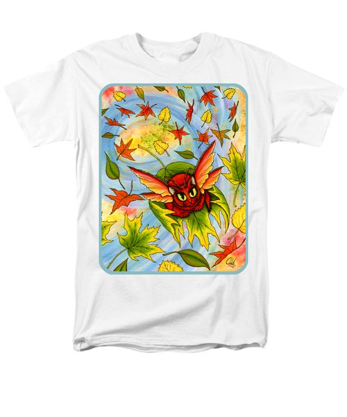 Men's T-Shirt  (Regular Fit) featuring the painting Autumn Winds Fairy Cat by Carrie Hawks