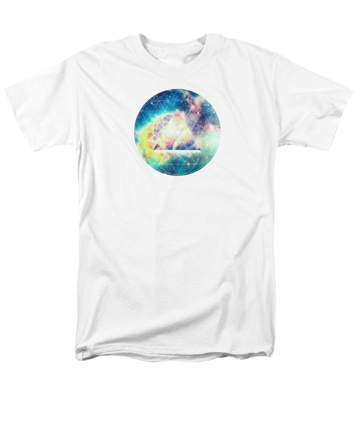 Awsome Collosal Deep Space Triangle Art Sign Men's T-Shirt  (Regular Fit) by Philipp Rietz