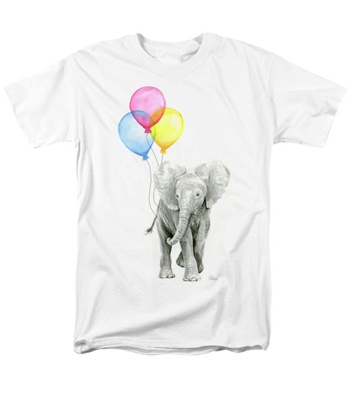 Baby Elephant With Baloons Men's T-Shirt  (Regular Fit) by Olga Shvartsur