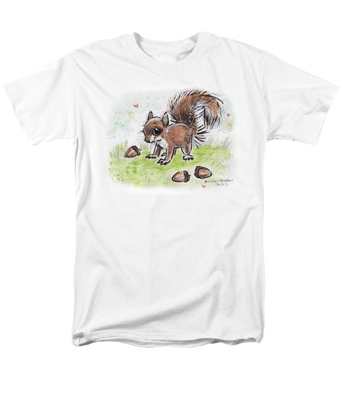 Baby Squirrel Men's T-Shirt  (Regular Fit) by Maria Bolton-Joubert