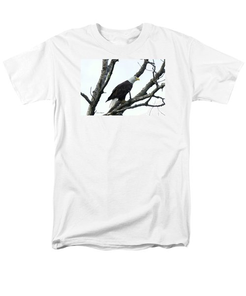 Men's T-Shirt  (Regular Fit) featuring the photograph Bald Eagle 2 by Steven Clipperton