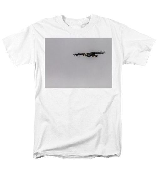 Bald Eagle Gliding Men's T-Shirt  (Regular Fit) by Timothy Latta