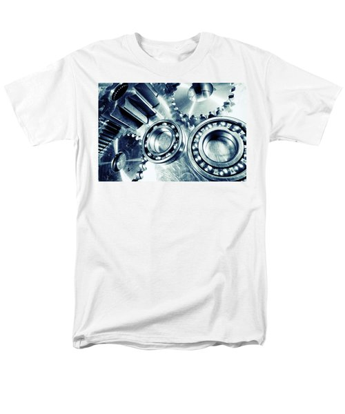Ball-bearings And Cogs In Titanium Men's T-Shirt  (Regular Fit) by Christian Lagereek