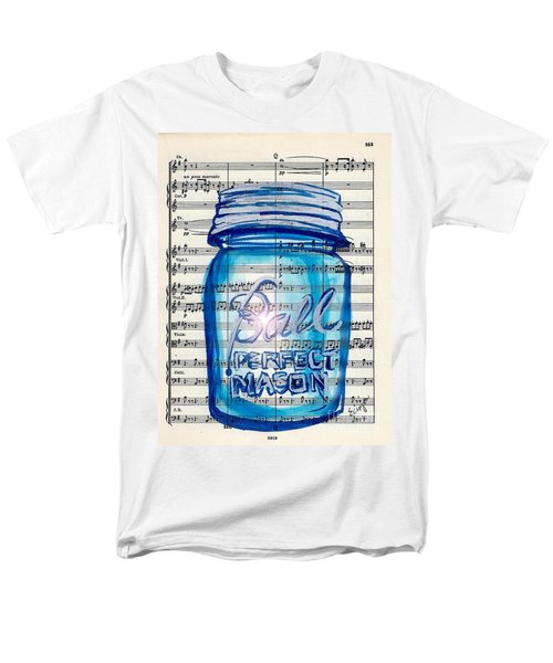 Men's T-Shirt  (Regular Fit) featuring the painting Ball Mason Jar Classical #168 by Ecinja