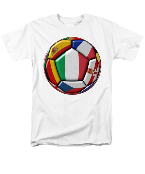 Ball With Flag Of Italy In The Center Men's T-Shirt  (Regular Fit) by Michal Boubin