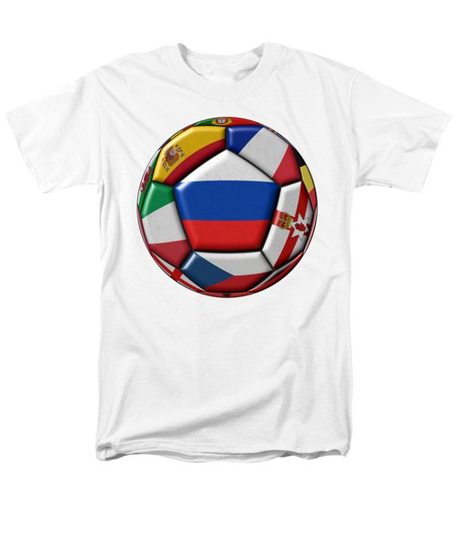 Ball With Flag Of Russia In The Center Men's T-Shirt  (Regular Fit) by Michal Boubin