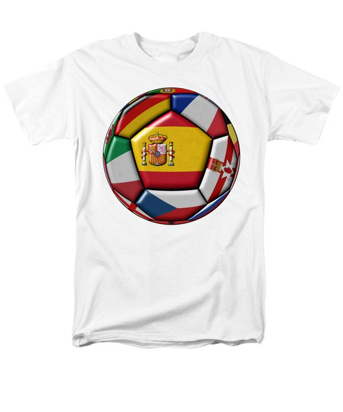 Ball With Flag Of Spain In The Center Men's T-Shirt  (Regular Fit) by Michal Boubin