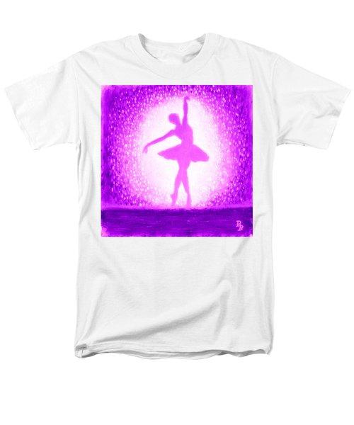 Ballerina Purple And Pink Men's T-Shirt  (Regular Fit)