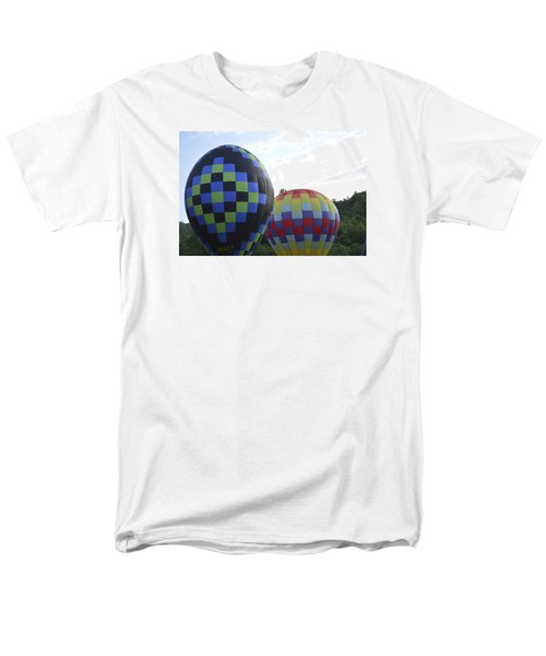 Balloons Waiting For The Weather To Clear Men's T-Shirt  (Regular Fit) by Linda Geiger