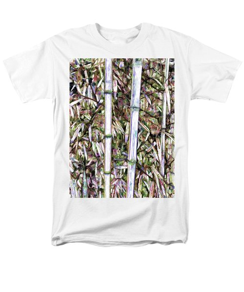Men's T-Shirt  (Regular Fit) featuring the painting Bamboo Stalks by Lanjee Chee