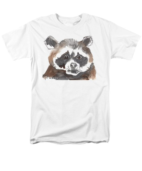 Bandit Raccoon Men's T-Shirt  (Regular Fit) by Kathleen McElwaine