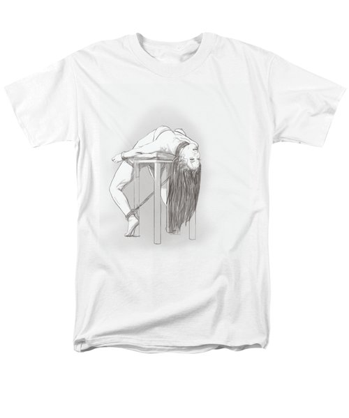 Men's T-Shirt  (Regular Fit) featuring the mixed media Bar Chair Bw by TortureLord Art