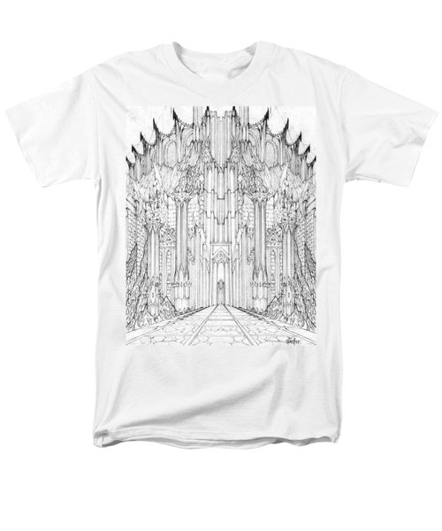Barad-dur Gate Study Men's T-Shirt  (Regular Fit) by Curtiss Shaffer
