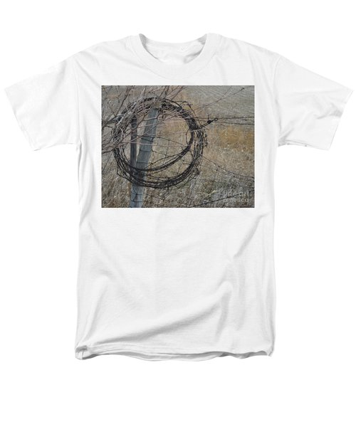 Barbed Wire Men's T-Shirt  (Regular Fit) by Renie Rutten