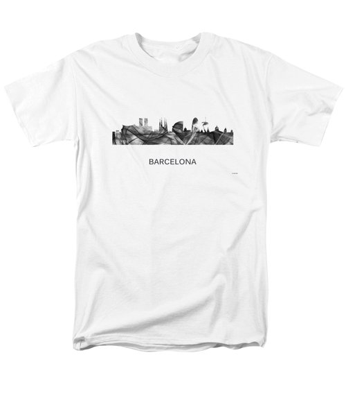 Barcelona Spain Skyline Men's T-Shirt  (Regular Fit) by Marlene Watson