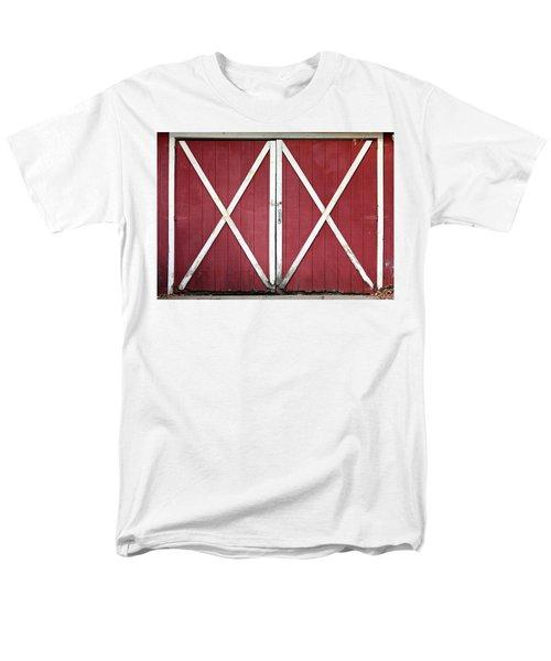 Red Barn Doors Men's T-Shirt  (Regular Fit) by Sheila Brown