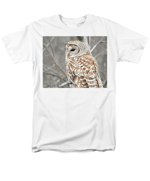 Barred Owl Close-up Men's T-Shirt  (Regular Fit) by Kathy M Krause