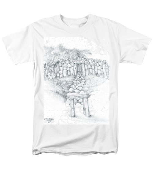 Men's T-Shirt  (Regular Fit) featuring the drawing Barrow Tomb by Curtiss Shaffer