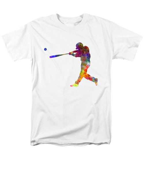 Baseball Player Hitting A Ball 02 Men's T-Shirt  (Regular Fit) by Pablo Romero
