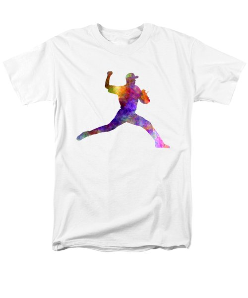Baseball Player Throwing A Ball 01 Men's T-Shirt  (Regular Fit) by Pablo Romero