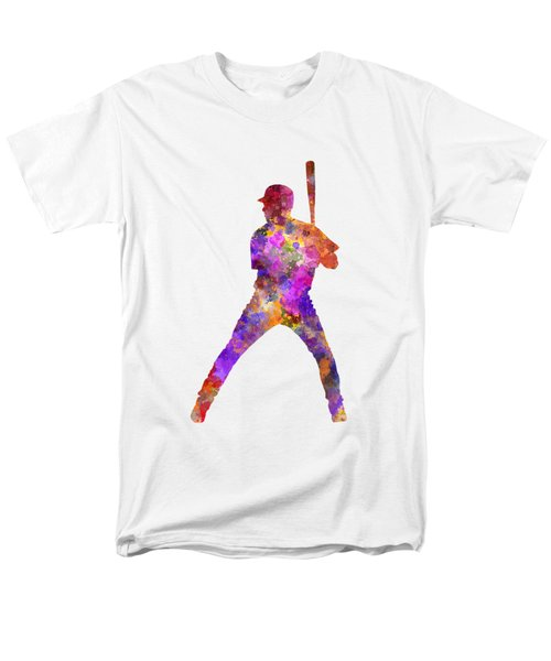 Baseball Player Waiting For A Ball Men's T-Shirt  (Regular Fit) by Pablo Romero