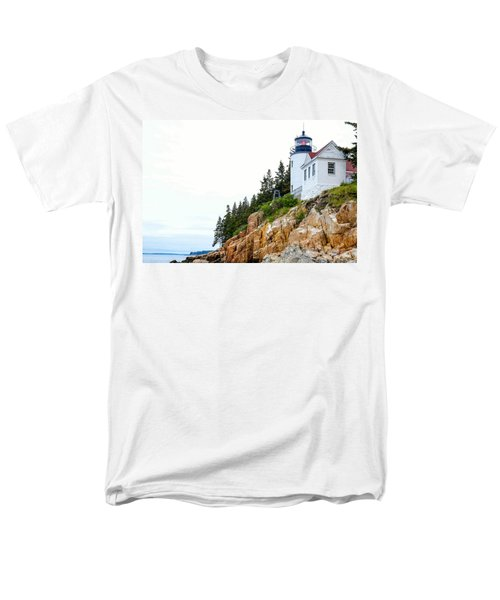 Bass Harbor Head Lighthouse 2 Men's T-Shirt  (Regular Fit) by John McArthur