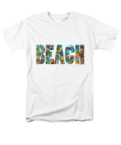 Beach Art - Beachy Keen - By Sharon Cummings Men's T-Shirt  (Regular Fit) by Sharon Cummings