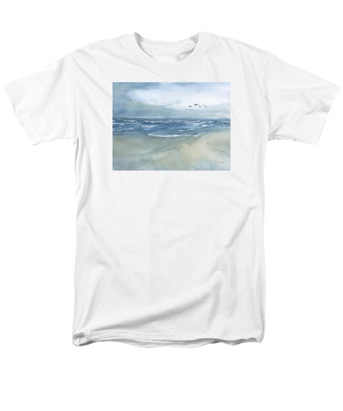 Beach Blue Men's T-Shirt  (Regular Fit) by Frank Bright