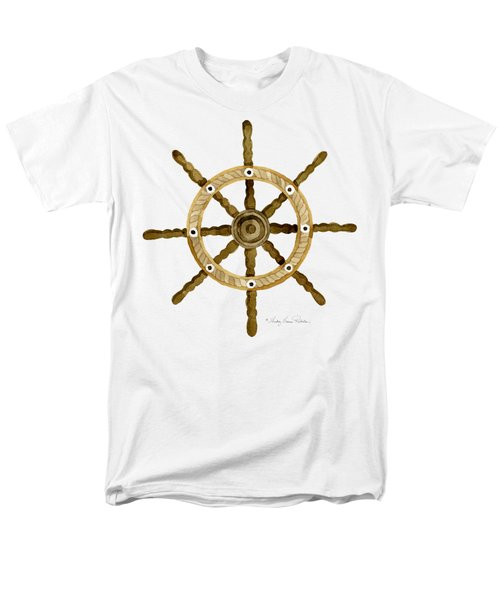 Beach House Nautical Boat Ship Anchor Vintage Men's T-Shirt  (Regular Fit) by Audrey Jeanne Roberts
