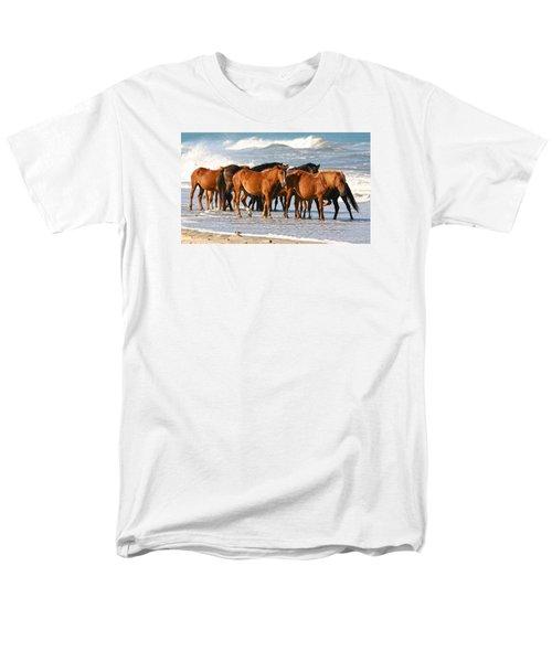 Beach Ponies Men's T-Shirt  (Regular Fit) by Robert Och