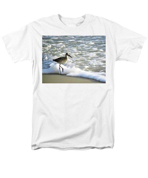 Beach Sandpiper Men's T-Shirt  (Regular Fit) by Kathy Long