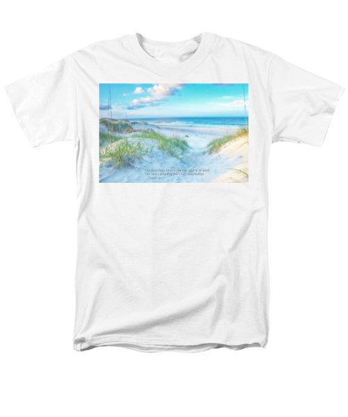 Beach Scripture Verse  Men's T-Shirt  (Regular Fit) by Randy Steele
