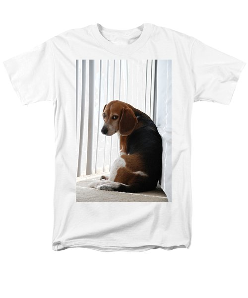 Beagle Attitude Men's T-Shirt  (Regular Fit) by Jennifer Ancker