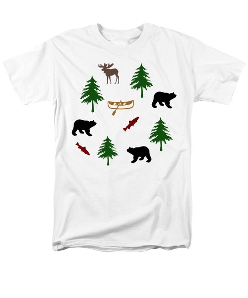 Bear Moose Pattern Men's T-Shirt  (Regular Fit) by Christina Rollo