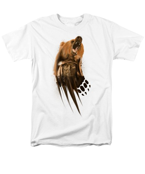 Bear Spirit  Men's T-Shirt  (Regular Fit) by Sassan Filsoof