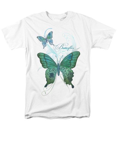 Beautiful Butterflies N Swirls Modern Style Men's T-Shirt  (Regular Fit) by Audrey Jeanne Roberts