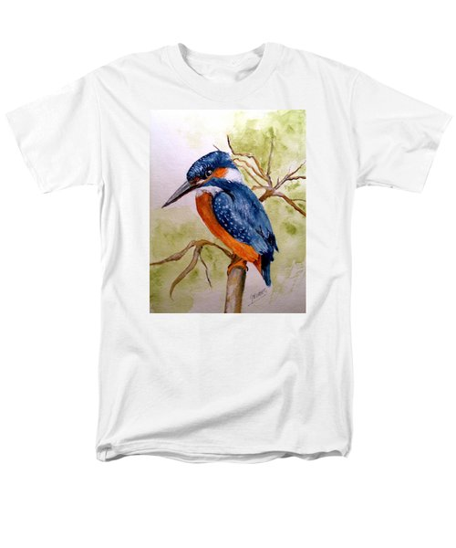 Men's T-Shirt  (Regular Fit) featuring the painting Beautiful Kingfisher by Carol Grimes
