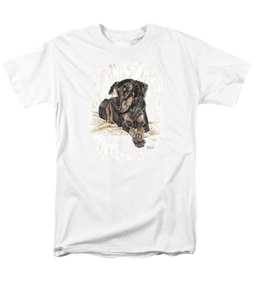 Beauty Pose - Doberman Pinscher Dog With Natural Ears Men's T-Shirt  (Regular Fit) by Kelli Swan