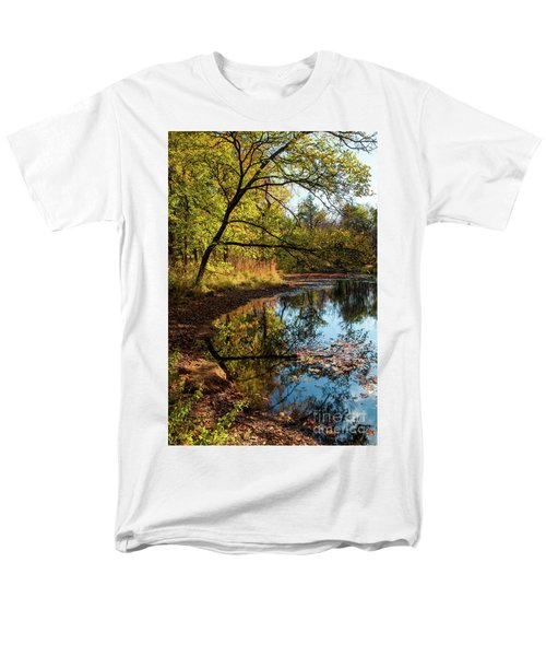 Men's T-Shirt  (Regular Fit) featuring the photograph Beaver's Pond by Iris Greenwell