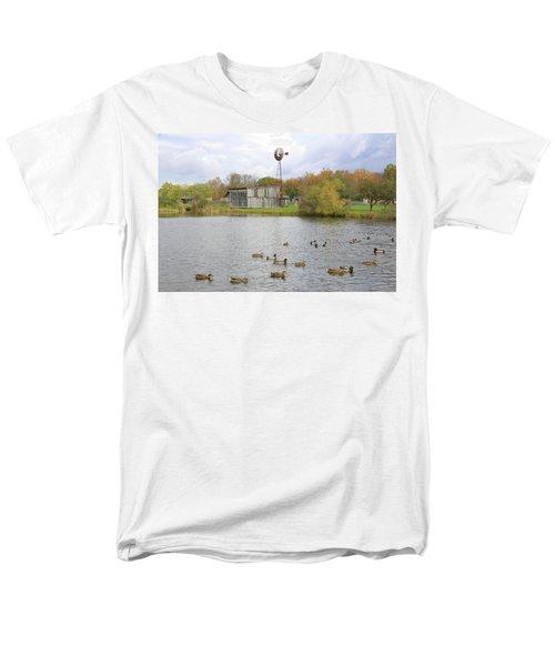 Men's T-Shirt  (Regular Fit) featuring the digital art Bedford Village by Sharon Batdorf
